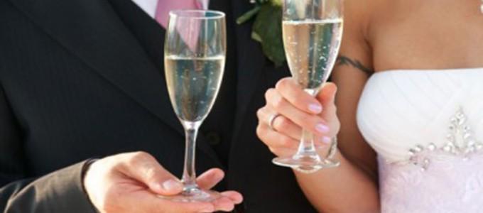 Espumante de casamento