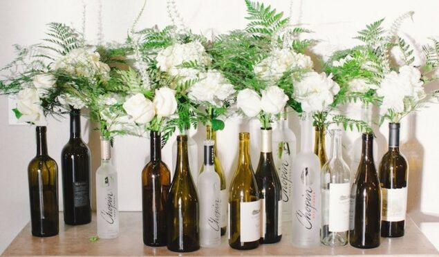 garrafa como vaso de flores