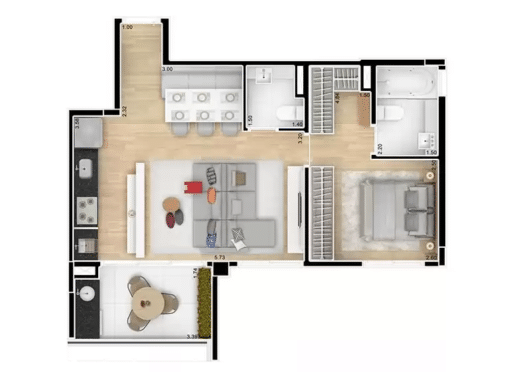 planta apartamento inteligente 2