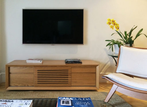 cores ambientes pequenos sala tv