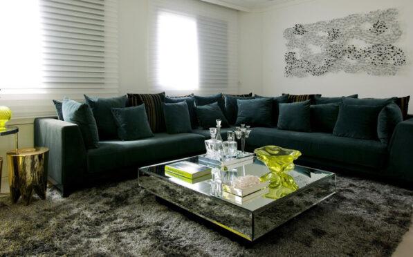 tecido de sarja em sofá