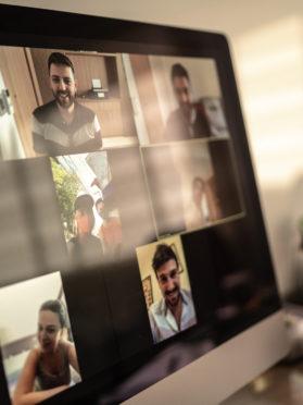 imagem de conferência online